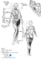 female body reference by wynnter89