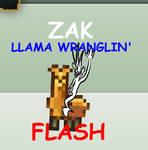 Zak Llama wranglin