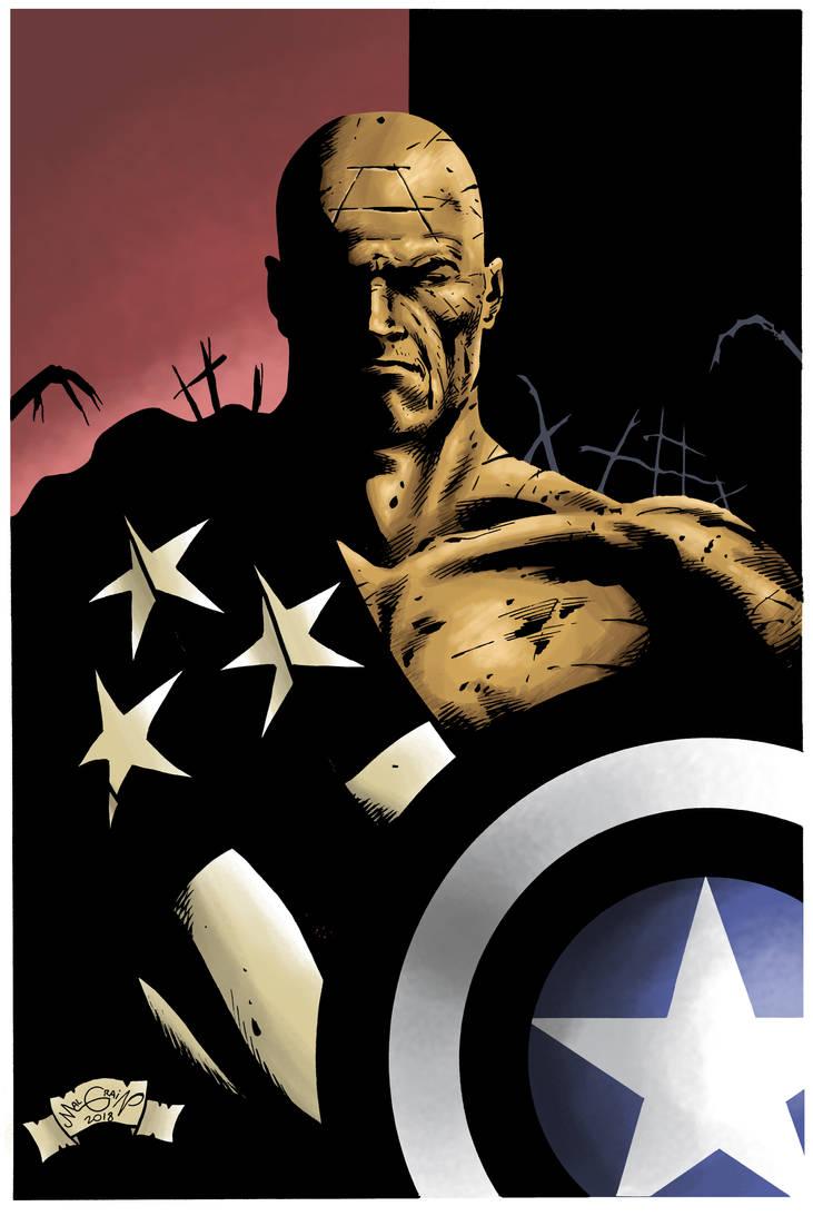 captain america x by sebastianhaze