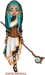 turquoise clothed mage