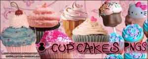8 Cupcakes PNG