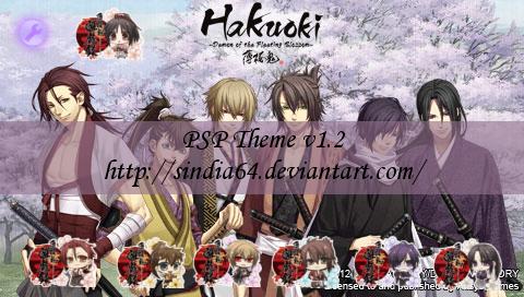 Hakuoki PSP Theme v1.2 by sindia64