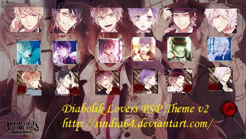 Diabolik Lovers PSP Theme v2 by sindia64