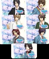Hakuoki Sweet School Life PSP Wallpaper Set 2 by sindia64