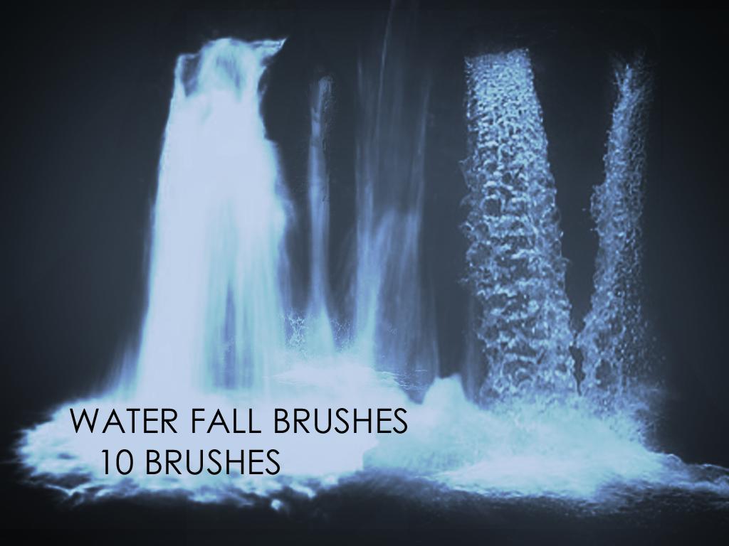Waterfall Photoshop Brushes