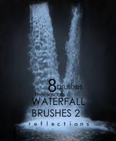 Waterfall Reflection 2 by thomascall