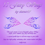 15 Fairy Wings - ready to use