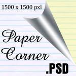 Paper Corner .PSD by kurshun
