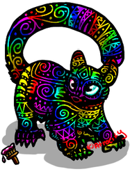 Atrocity pet- Rainbow glidera (animated) by Ittermat