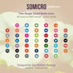 Somicro: 45 Free Social Media Icons
