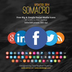 Somacro: 45 300DPI Social Media Icons