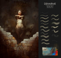 Photoshop Brushes / Deharme OIL SET (Photoshop CC)