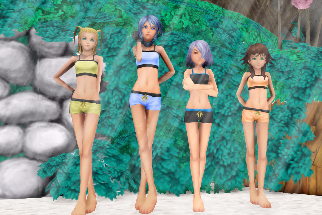 More KH Girl Beach Models! by Smirkaotic