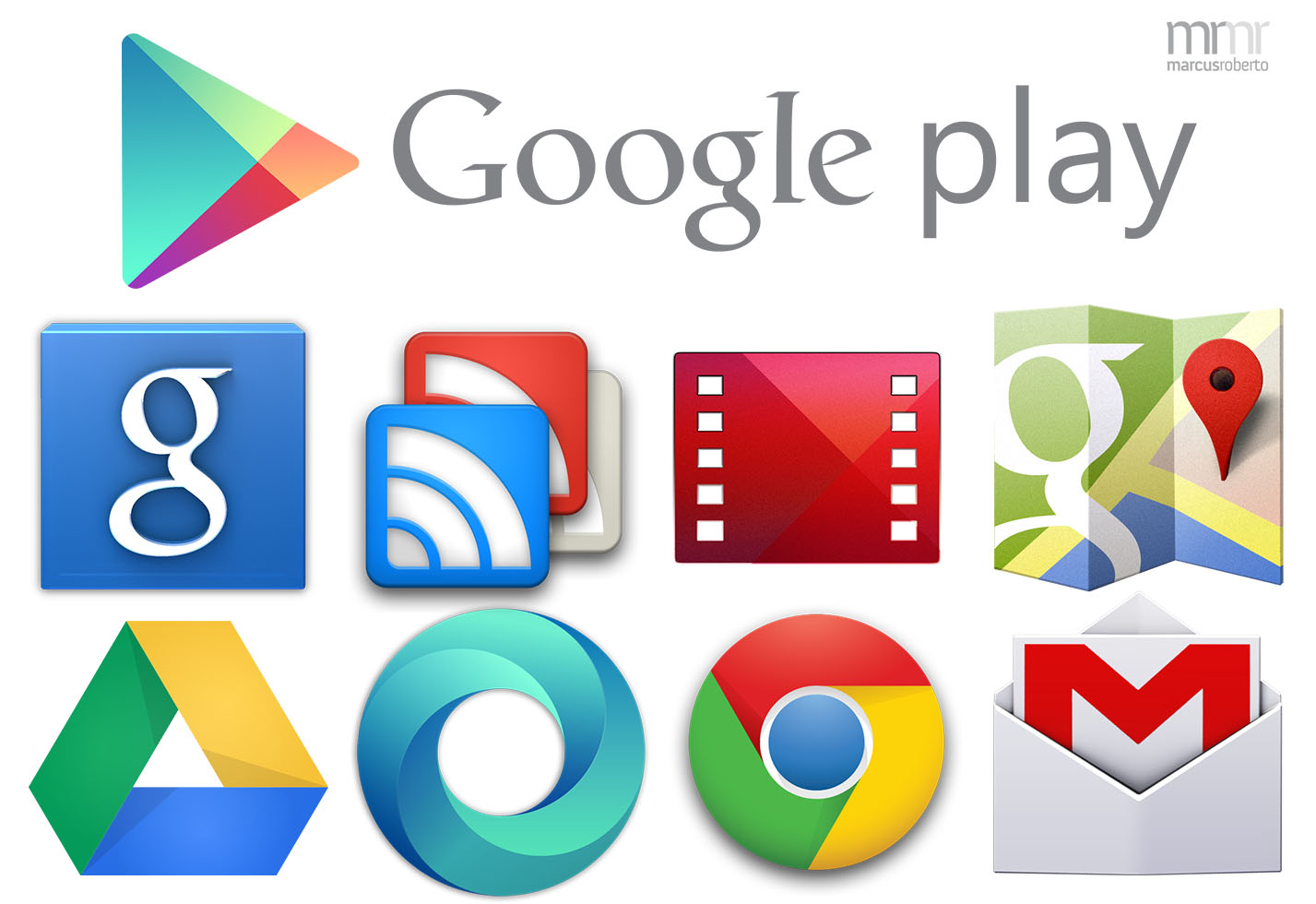google play icons by marcus roberto on deviantart