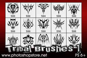 Tribal Brushes 1 PS 6 by Mosh-X