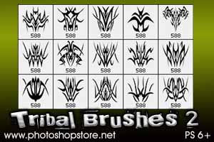 Tribal Brushes 2 PS 6 by Mosh-X