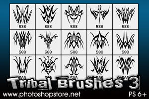 Tribal Brushes 3 PS 6+ by Mosh-X