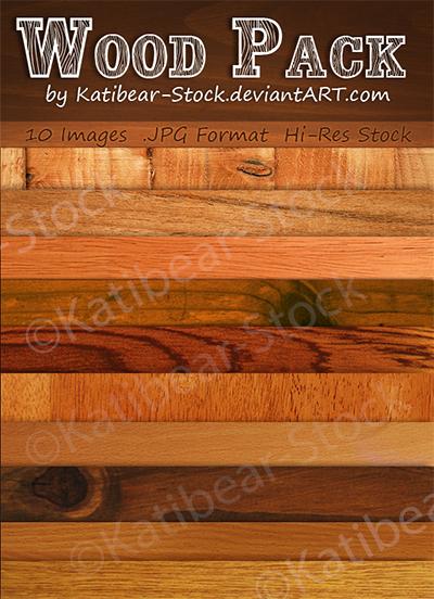 Katibear-Stock Wood Pack by Katibear-Stock