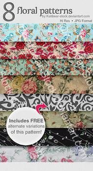Katibear-Stock Floral Pattern Pack