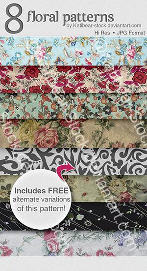Katibear-Stock Floral Pattern Pack by Katibear-Stock
