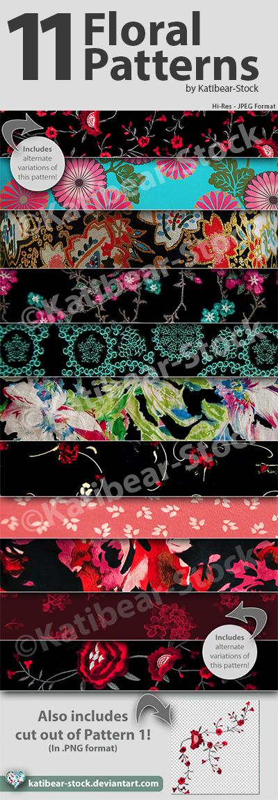 Katibear-Stock Floral Pattern Pack V2 by Katibear-Stock