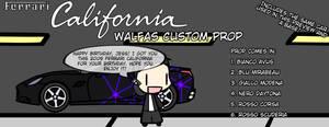 [WALFAS GIFT AND CUSTOM PROP] Ferrari California by Eddsworldftw11