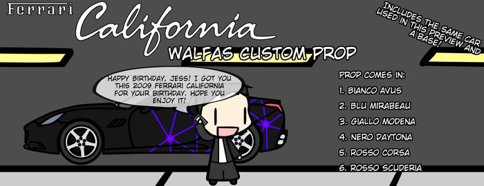 [WALFAS GIFT AND CUSTOM PROP] Ferrari California by Eddsworldftw11