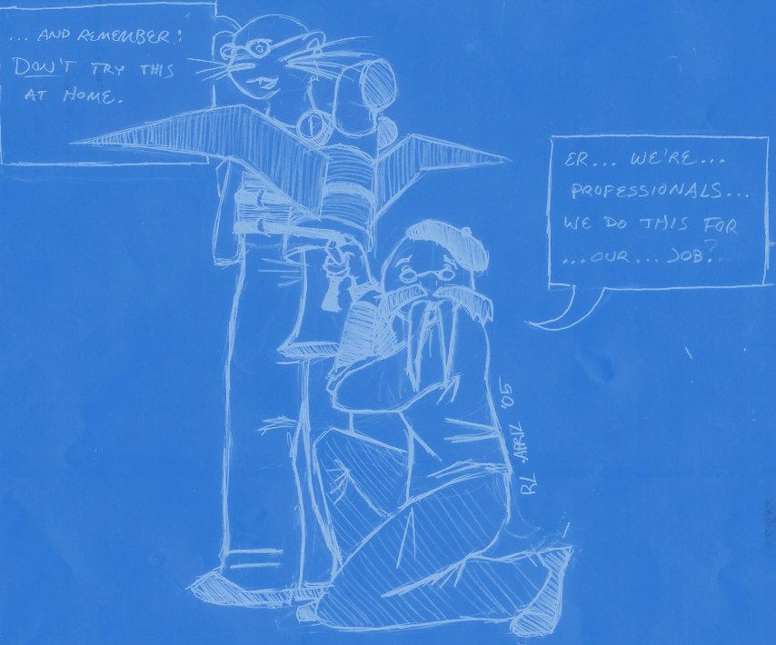 MythBusters anthros by sportytuna