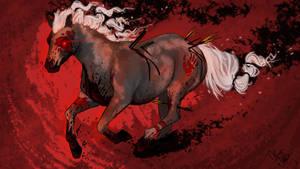 Horse of the Apocalypse [War] Livestream doodle