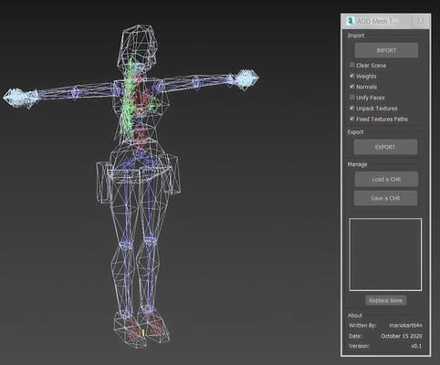 Tomb Raider 6 Angel of Darkness - Model Maxscript