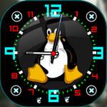 Tux-clock