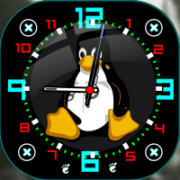 Tux-clock by dewman12