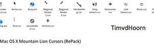Mac OS X Mountain Lion Cursors
