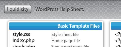 WordPress Help Sheet by screamoXcore