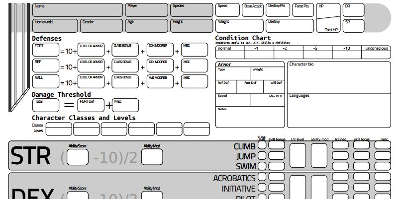 star wars saga character sheet Star Wars Saga Character Sheet V2 by exarobibliologist on DeviantArt