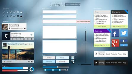 Sharp UI Kit (PSD) by RDTSOD