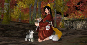 Pose - Kokoro in 'Kitsune and her Tea'