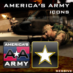 America's Army Dock Icons by XSV
