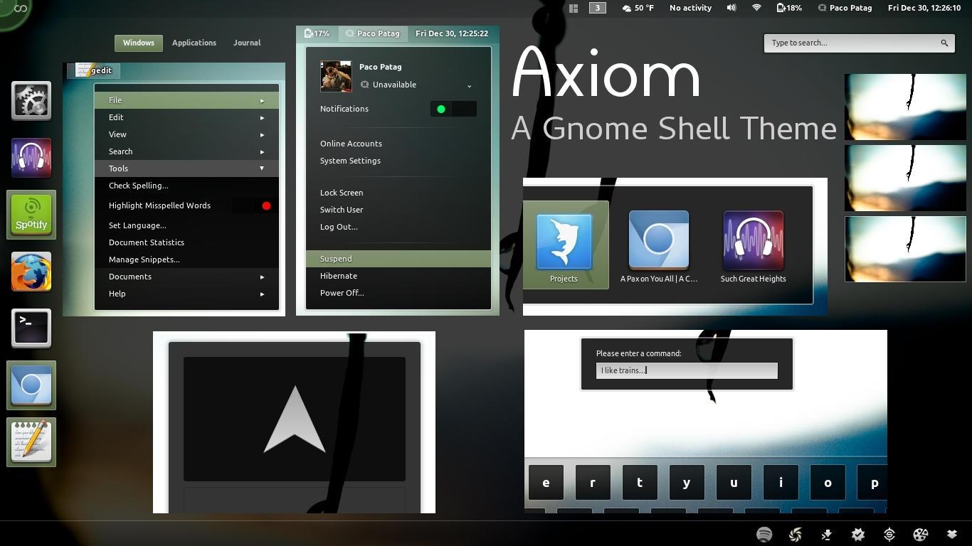 Axiom - Gnome Shell Theme by axiom613