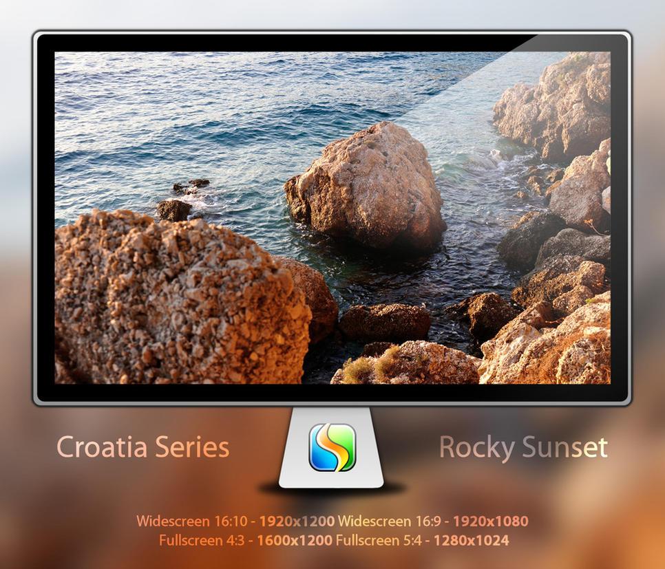 Croatia - Rocky Sunset by Senthine