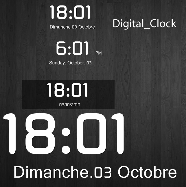 Digital Clock by marcarnal