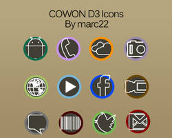 Cowon D3 Icons Style by marcarnal