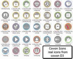 Cowon D3 Icons real iocns by marcarnal