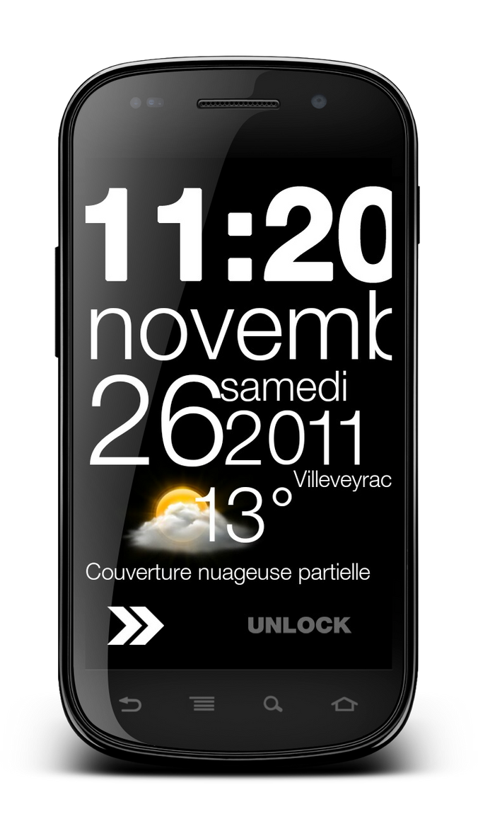 Typoclock weather MIUI lockscreen by marcarnal