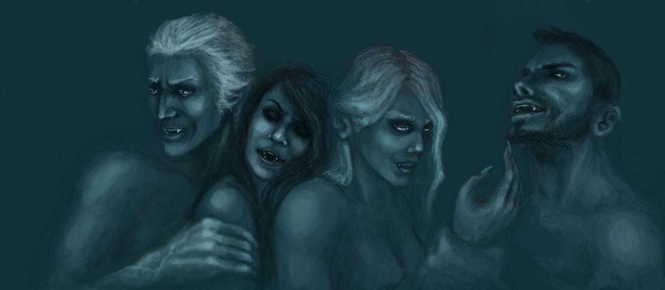 The vampires' night orgy cartoon clips