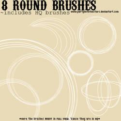 8 Round Brushes