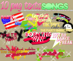 textos PNG de canciones by PartyWithTheStars