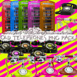 Old Telephones PNG Pack