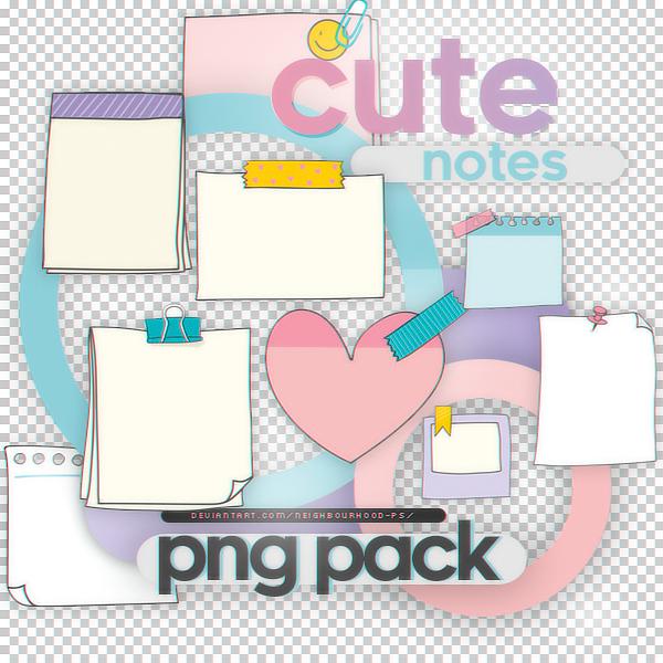 Cute Notes Png Pack By Neighbourhood Ps On Deviantart