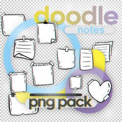 Doodle Notes - png pack